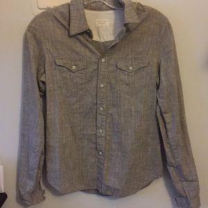 Rag & Bone Gray Button Up Shirt
